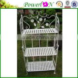 Classical Antique Wrought Iron 3 Tier Shelf/Stand/Rack for Flower/shoes/Storage/ Decoration PL08-5137