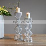 New design wholesale white metal candle holder aluminum candle holder