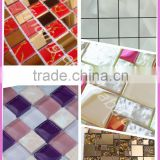 colorful stone mosaic wall tile pattern for swimming pool tile made in China/mosaic tile supplier