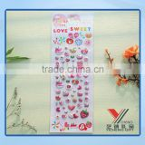 Love By Kids For DIY Decorate Cute Puffy Sticker