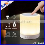 Baby night light music story player Portable wireless touch Mini bluetooth speaker lamp with LED light for mobile phone PC