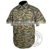 Military Shirt/Short-sleeved Shirt BDU/Reinforced Camouflage Military Uniform for Military Training and Outdoor