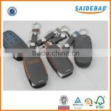 Hot selling genuine leather mini key bag, car key bags with box