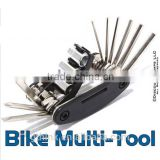 16-in-1 Multifunctional High Quality Alloy Steel Cycling Bicycle Repair Tools Black Bike Combined Tool