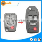 high quality 3+1 remote key shell with uncut blade no logo with letter on back for volvo xc90 s60 s40 v70 850