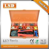 S-056TH hand tool set with crimping plier and some kinds of terminals metal tool box packed