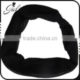 Black White Soft knit stretch Elastic Headband,turban soft Hair Band,for girls Knotted head wrap FHEHA0134-1