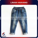 Elastic waist holes jeans pants for boys manufacturer