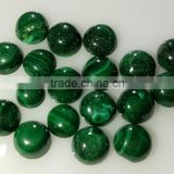 Natural Malachite Cabochon Round 7mm for Setting Nontreated