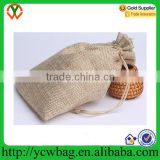 High Quality Natural Cotton Linen Packing Bag Drawstring Burlap Bags jewelry bag