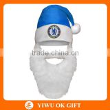 New Design Christmas Party Santa Beanie Hat with Beard