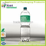 Yori-Customized blank champagne plastic juice bottle label