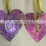 Christmas Decoration Metal Christmas decorations hangings-Heart shape, metal heart shape decoration, Heart shaped/colored Hearts