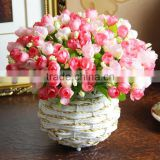 2014 hot sale decorative flower pot ,artificial flowers rose,Artificial flowers rose(AM-885344)