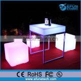 bar /night club/party /wedding decor led bar cube chair,remote control 3d led cube light