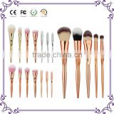 7/8pcs rose gold/silver/gold metal powder buffing makeup brush set foundation brush