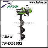 49cc Gasoline garden tool earth auger machine with Metal Driller