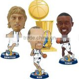 basketball champion figure plastic bobbleheads,3d plastic basketball bobbleheads for collection, sport action figure bobbleheads