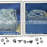 Rectangle/Square/Egg shaped silver wire gift box