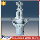 Carved two fishes marble water fountain for garden decoration NTMF-017LI
