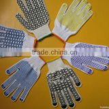 best selling PVC dotted good industrial hand glove making machine/flexible and good fit