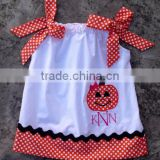 Girl's beautiful printed suit Halloween pumpkin design style kids clothing wholesale