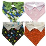 printed 100%cotton bandana bibs with fashional collar