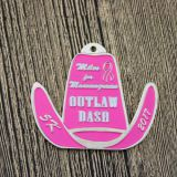 Custom Race Medals for Outlaw Dash 5K