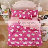 Internation Brand Double C New Design Bedding 100% Cotton / Girls Princess Pink Comforter Bed Sheet Cover Set BS353