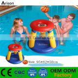 Factory customizable durable inflatable basketball hoop floating basketball target inflatable pool basket