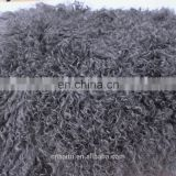 24x48 Cool Grey Curly Mongolian Fur Skin Plate Quality Tibetan Lamb Fur For Home Decor Area Rug