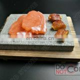 Lava Grill Stone with plate for steak stone service