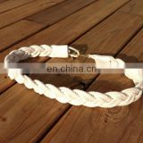 white cotton rope anchor braided belt nautical woven rope belt