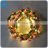 2017 new product led light up garland flower