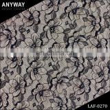 Handcraft Black Flower Lace Fabric for Wedding Dress
