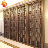 Jyf0030 Champagne Gold Mirror Finish Stainless Steel Room Screen Divider
