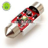 White 36mm 39mm 41mm 1led cree 5w heatsink canbus No Error Festoon with heat bar Car Reading light,license lamp