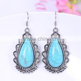 wholesale fashion vintage resin acrylic kallaite tear style light weight gold earring stud findings