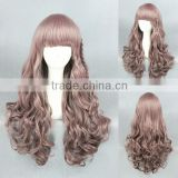 beauty 65cm medium brown wave women cosplay Synthetic Lolita wig