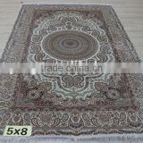 Skilled weavers hand craft saintly oriental woven carving vintage rug