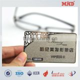 MDC056 etch metal card metal loyalty card for club metal membership card