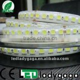 2012 newest and most bright 5M 120 led per meter strips 5050SMD Flexible led strip white,DC24V,one lines/two lines