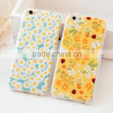 Fashion pastoral floral style phone case,mobile phone case for iphone 6 Anti-Scratch case