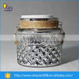 2016 hot sell cylindrical glass sun solar jar with solar lid