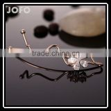 Korean Version of The Word Folder Hairpin Plum Zircon Side Clip Duckbill Clips Hair Accessories Hair Accessories