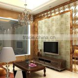 tv background printing glass , 3d wall glass decorative glass TV wall