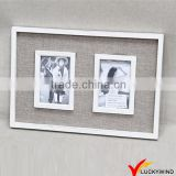 Fabric Decor Wall Hanging Shabby Chic Double Photo Frame
