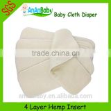High Quality Reusable Baby Cloth Diaper Hemp Inserts