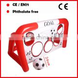 PVC game inflatable football goal sets with 22CM football for promotion