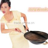 Low cost carbonized wood pot lids with high stable quality, wood pot covers after carbonizing